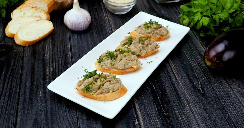 Як приготувати закуску з баклажанів з часником подивитися рецепт