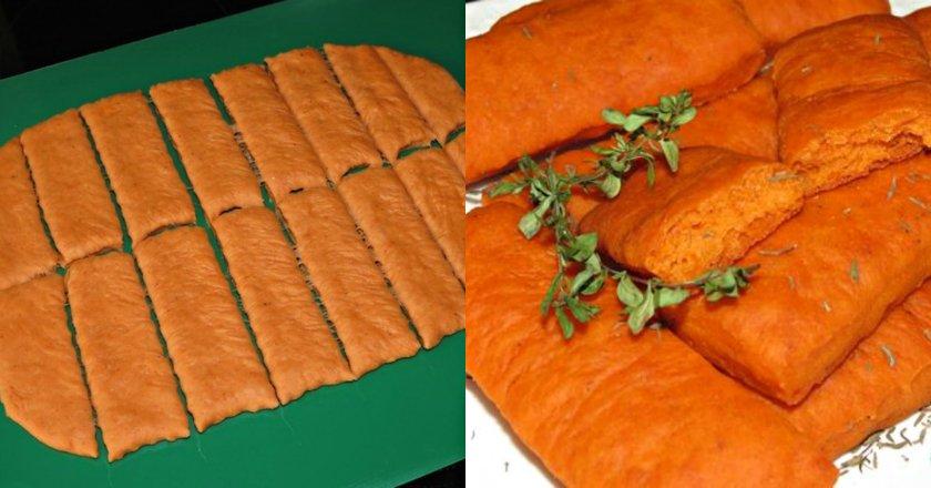 Печиво на томатному соці подивитися рецепт