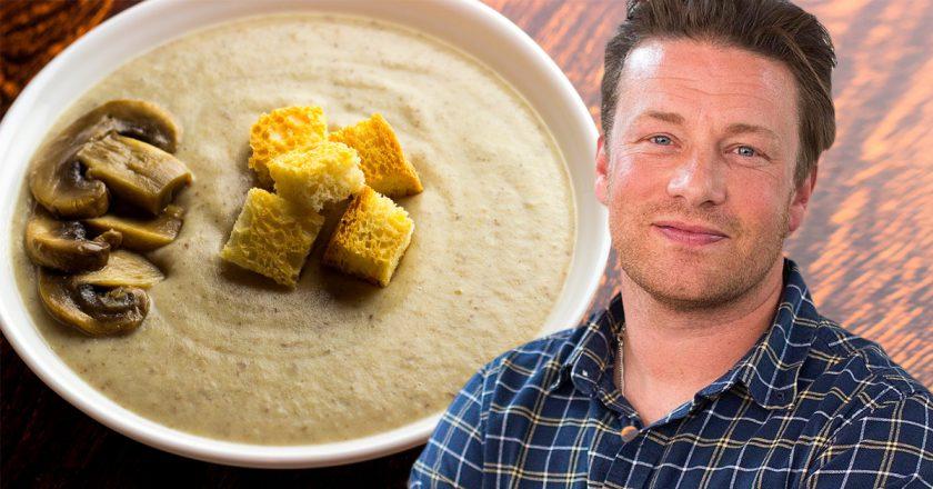 Грибний крем-суп від Джеймі Олівера подивитися рецепт