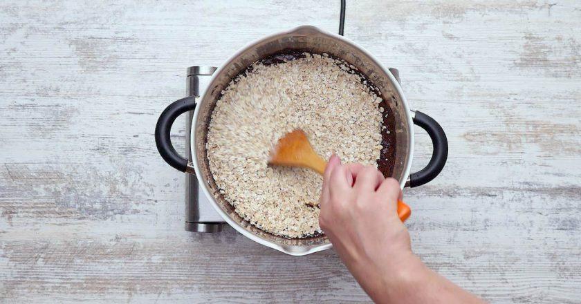 Як приготувати шоколадно-вівсяне печиво подивитися рецепт