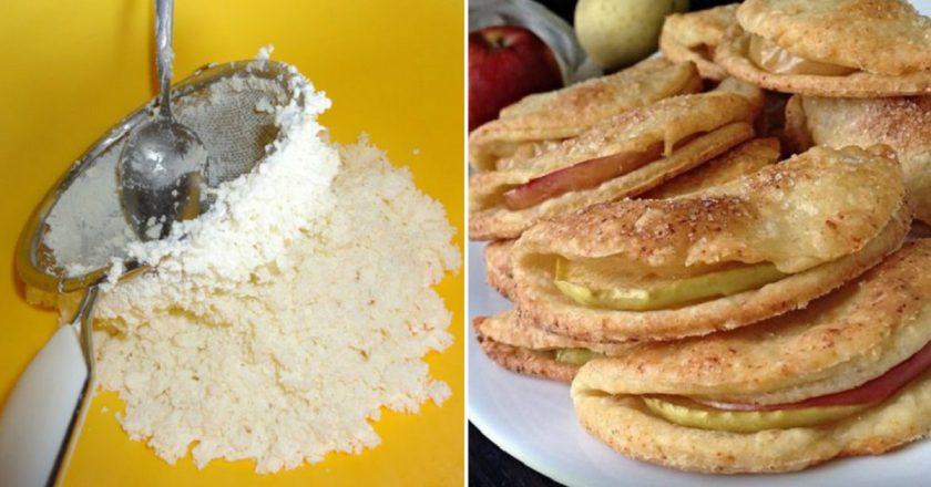 Сирне печиво з яблуками подивитися рецепт