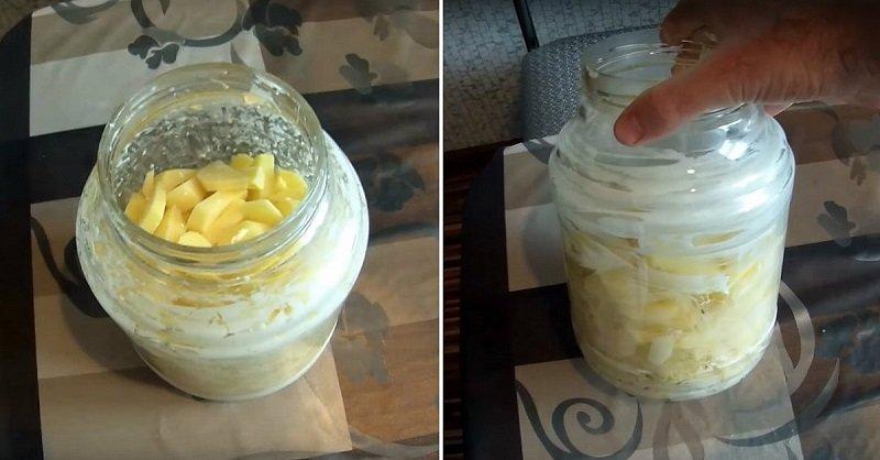 Картопля в банку в духовці