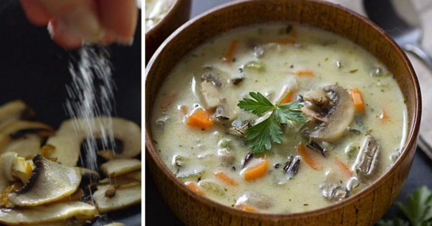 Грибний суп подивитися рецепт
