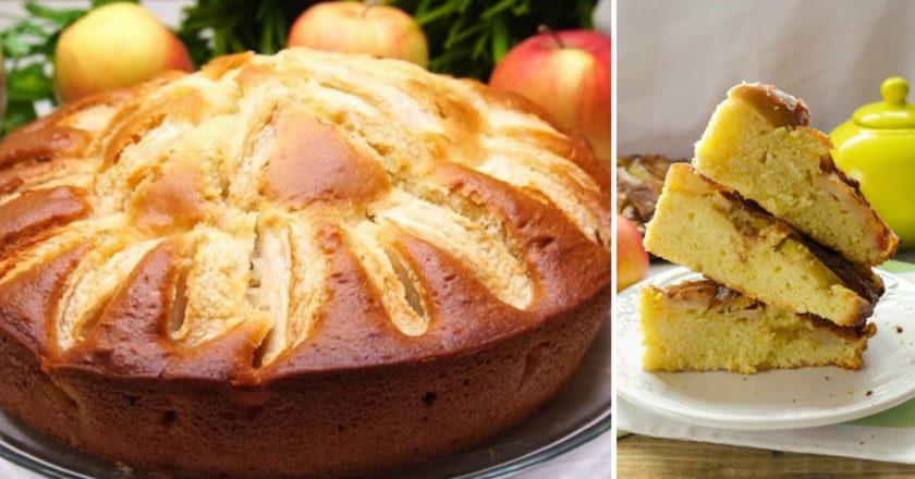 Швидкий яблучний пиріг на кефірі подивитися рецепт