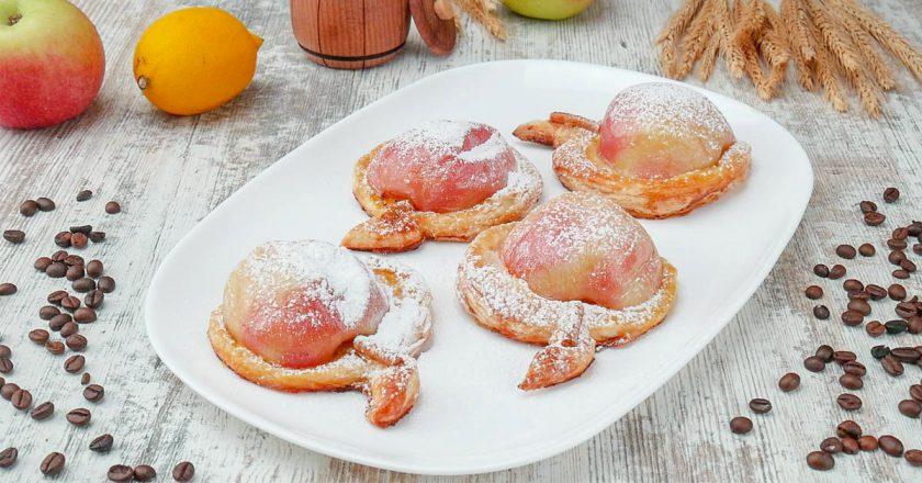 Як запекти яблука з карамеллю подивитися рецепт