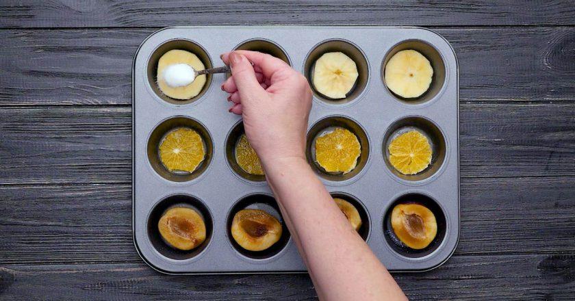Як приготувати кекси з фруктами подивитися рецепт