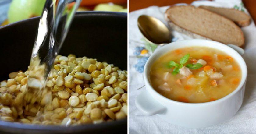 Пісний суп гороховий подивитися рецепт