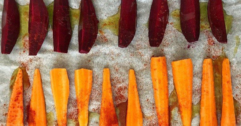 Теплий овочевий салат подивитися рецепт