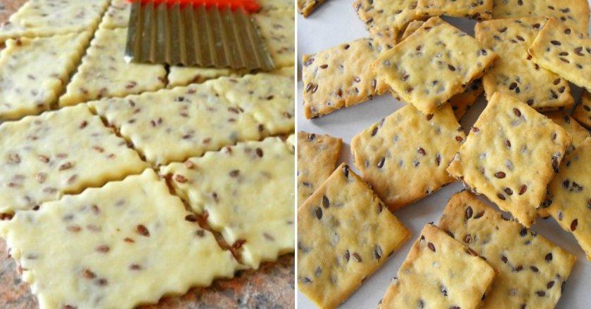 Галетне печиво з насінням льону як приготувати, покрокові рецепти від «Це Смак»