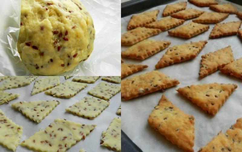 Галетне печиво з насінням льону