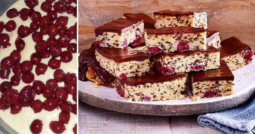 Шоколадний пиріг з вишнею подивитися рецепт