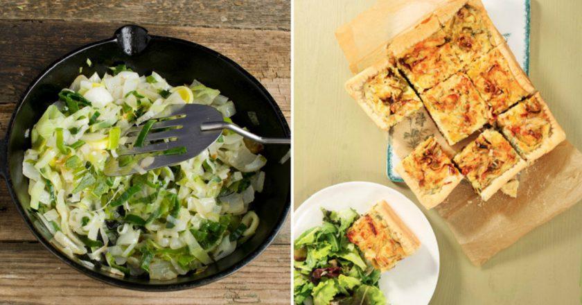 Пиріг з цибулею-пореєм як приготувати, покрокові рецепти від «Це Смак»