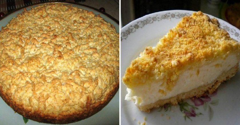 Тертий пиріг з сиром подивитися рецепт