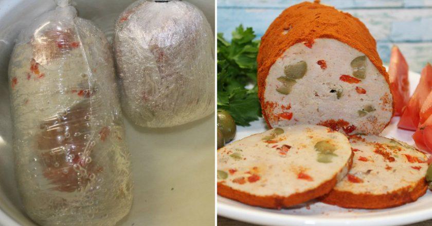 Домашня ковбаса мортаделла подивитися рецепт