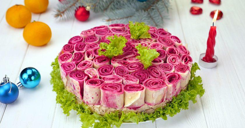 Як приготувати салат «Букет троянд» подивитися рецепт