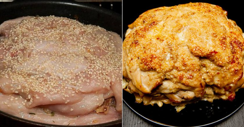 Куряча грудка з сиром в духовці подивитися рецепт