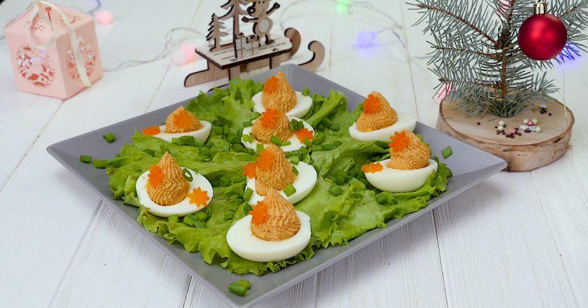 Як приготувати фаршировані яйця подивитися рецепт