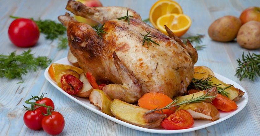 Як приготувати курку з яблуками і апельсинами подивитися рецепт