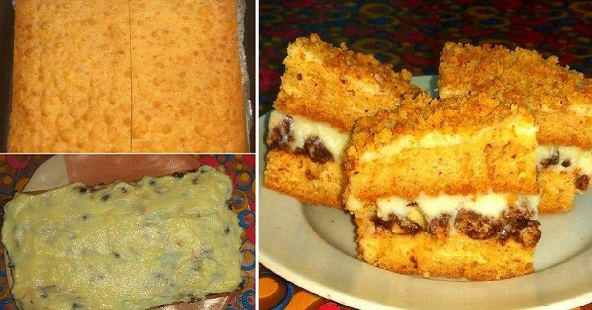 Торт з горіхами і кремом подивитися рецепт