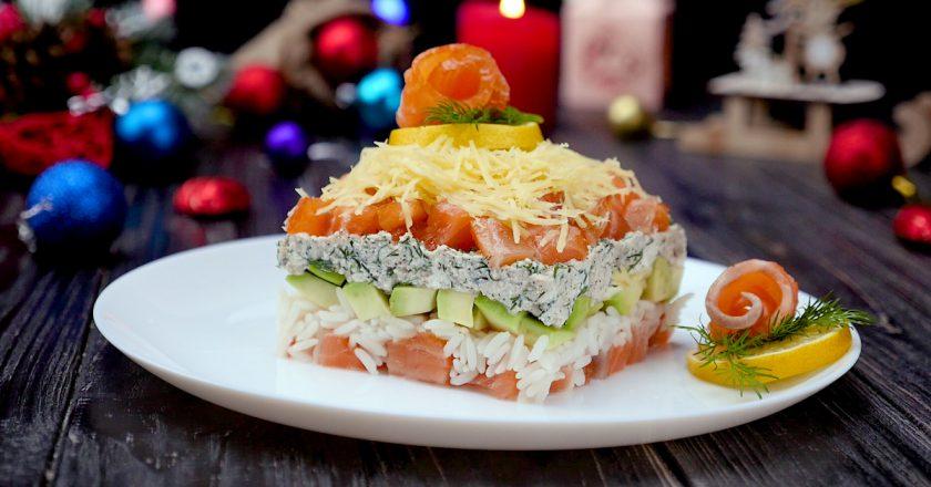 Як приготувати салат з сьомгою і авокадо подивитися рецепт