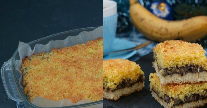 Банановий пиріг на пісочному тісті подивитися рецепт