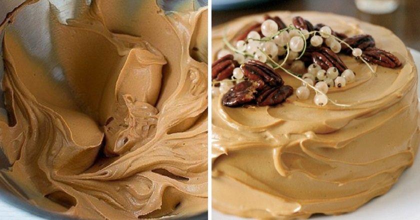 Карамельний крем для торта подивитися рецепт