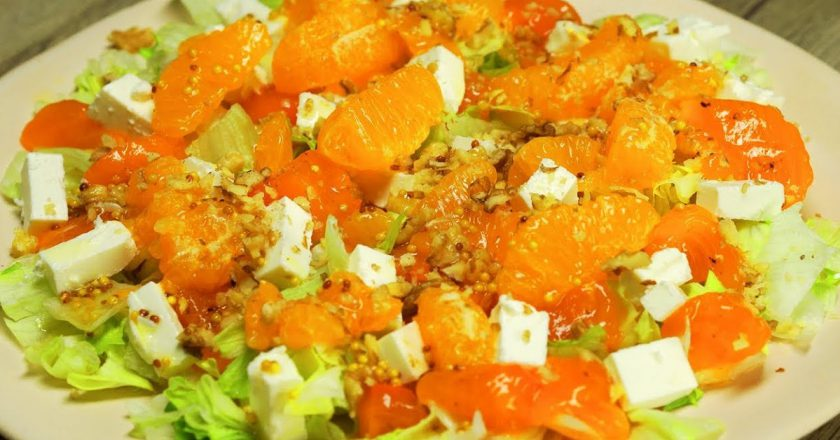 Салат з хурмою подивитися рецепт