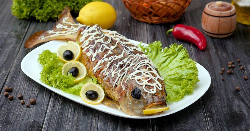 Як приготувати фаршировану рибу подивитися рецепт
