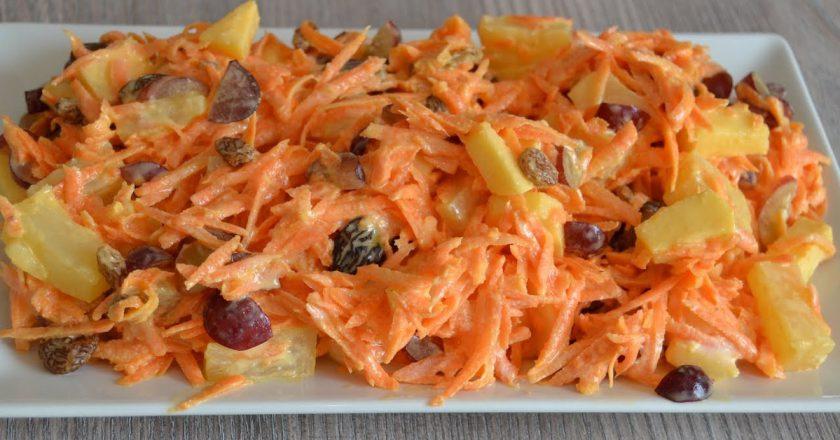 Салат з ананасом і морквою подивитися рецепт
