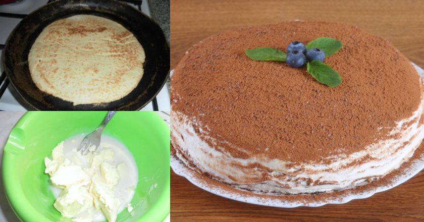 Домашній торт на сковороді подивитися рецепт