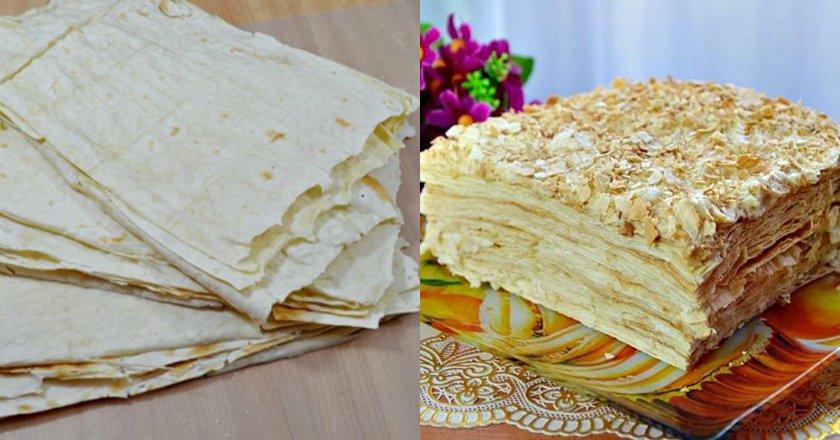 Торт «Наполеон» з лаваша подивитися рецепт