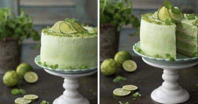 Зелений торт подивитися рецепт