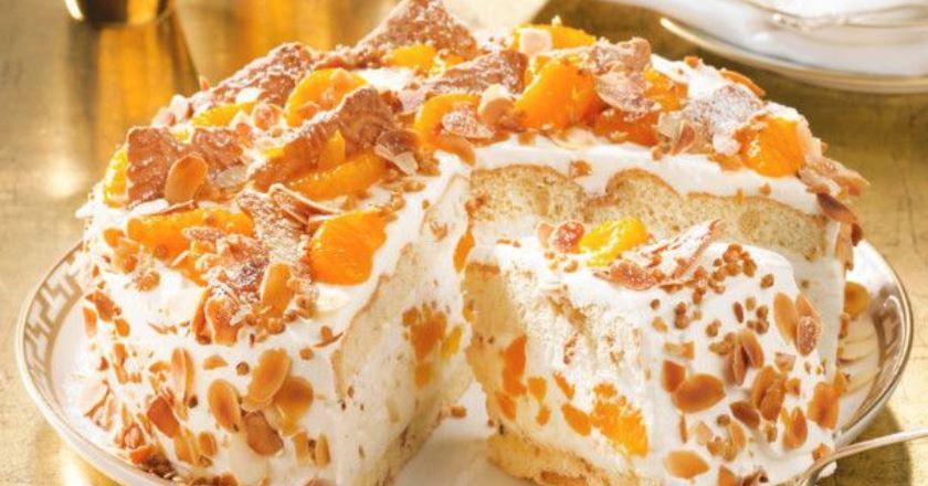 Торт з мандаринами подивитися рецепт