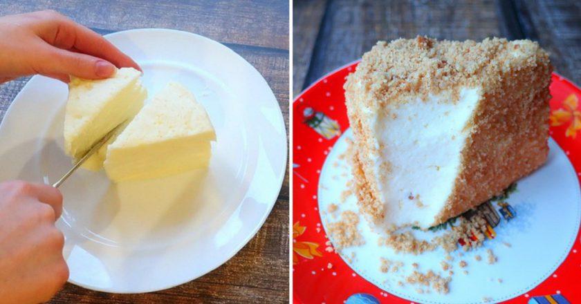 Торт «Пташине молоко» без випічки подивитися рецепт