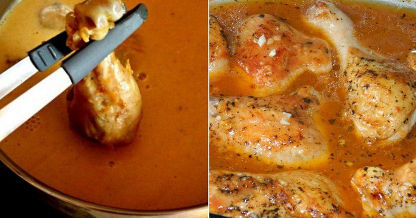 Домашня курка в соусі подивитися рецепт