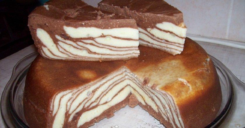 Сирна запіканка з шоколадом подивитися рецепт