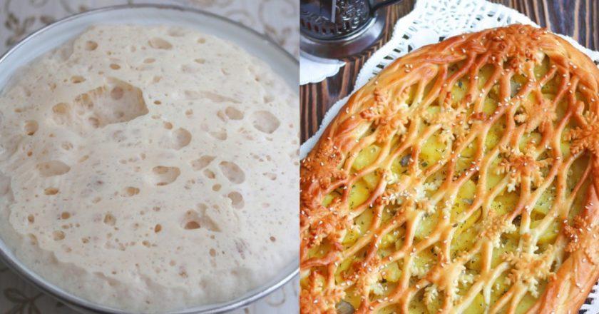 Пиріг з картоплею з дріжджового тіста подивитися рецепт