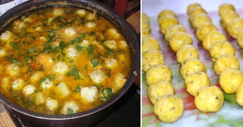 Суп з сирними галушками подивитися рецепт