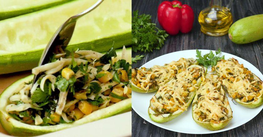 Як приготувати кабачки з кукурудзою подивитися рецепт