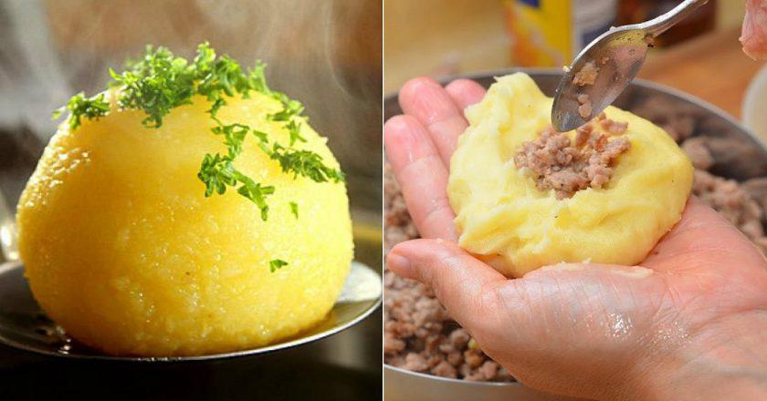 Картопляні галушки з м'ясом подивитися рецепт