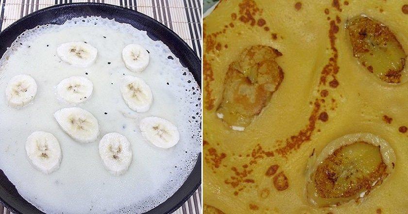 Млинці з банановим припіком подивитися рецепт