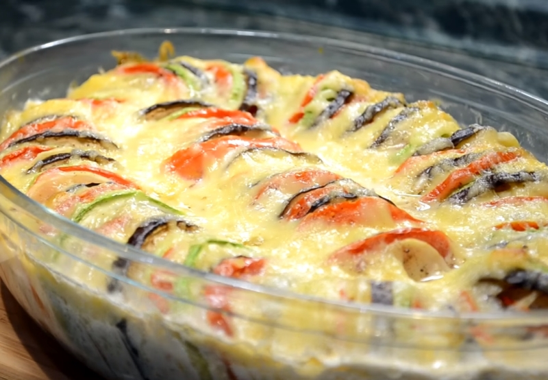 Запечені овочі з сиром