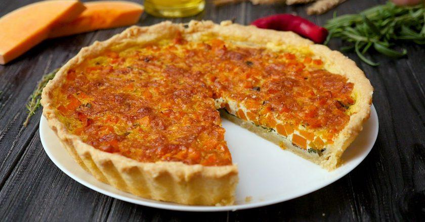 Як приготувати відкритий пиріг з гарбузом подивитися рецепт