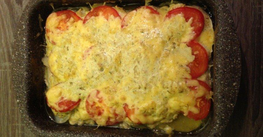 Картопля з куркою в сметані подивитися рецепт