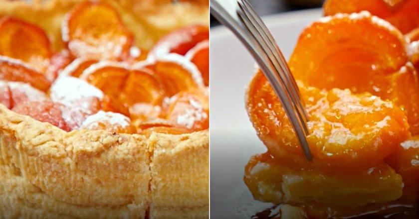 Пиріг з абрикосами на пісочному тісті подивитися рецепт
