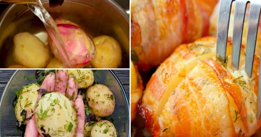 Картопля, запечена в беконі подивитися рецепт