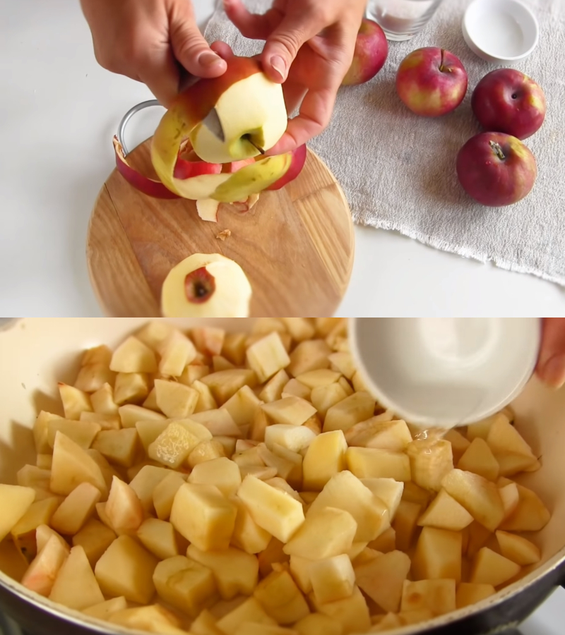 Торт з яблуками
