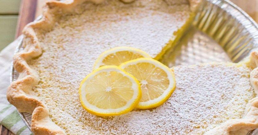 Лимонний пиріг з листкового тіста подивитися рецепт