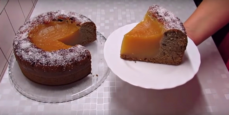 Пісний пиріг «Вулкан»