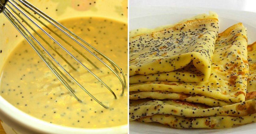 Макові млинці як приготувати, покрокові рецепти від «Це Смак»